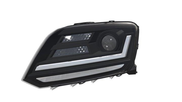 LEDriving headlights for VW Amarok - Black 3D Model