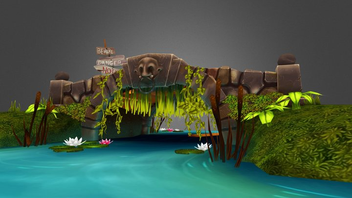Ogre Bridge 3D Model
