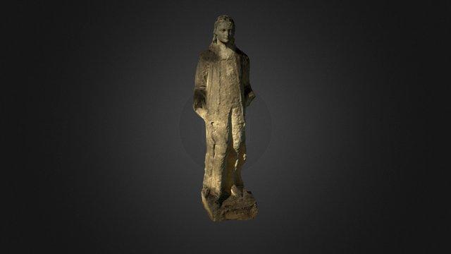 Stone Blue Boy statue 3D Model