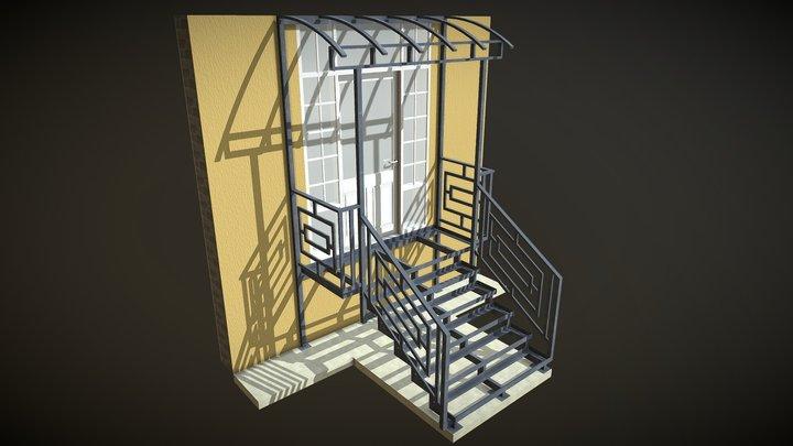 Крыльцо 2 3D Model
