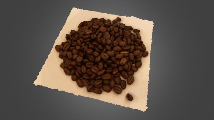 Coffee Beans- Autodesk Memento 3D Model