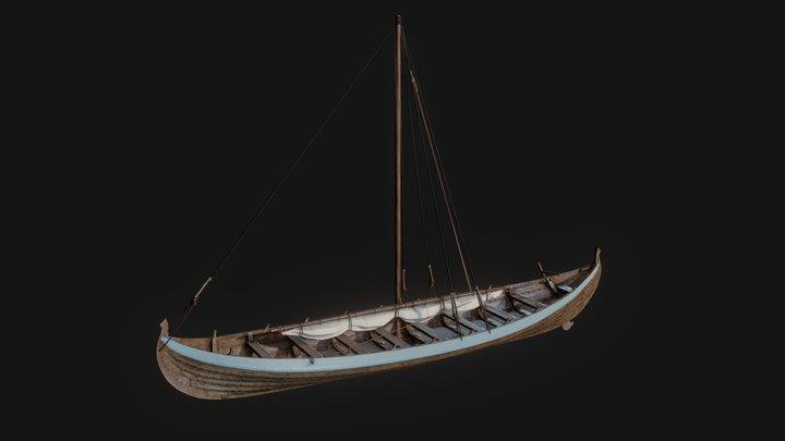 Viking Fishing Ship - Skuldelev 6 3D Model
