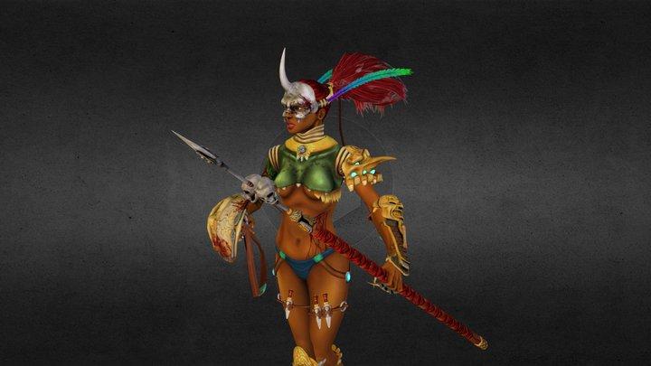 Amazon Warrior 3D Model