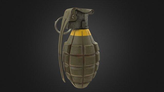 Grenade Low Poly 3D Model