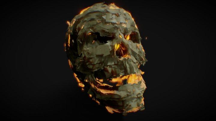 Skull Embers 3D Model