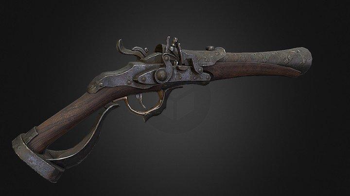 Bloodborne Hunter Pistol 3D Model