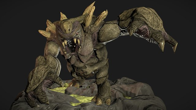 """The last mother - """"The beast"""" Polycount contest 3D Model"""