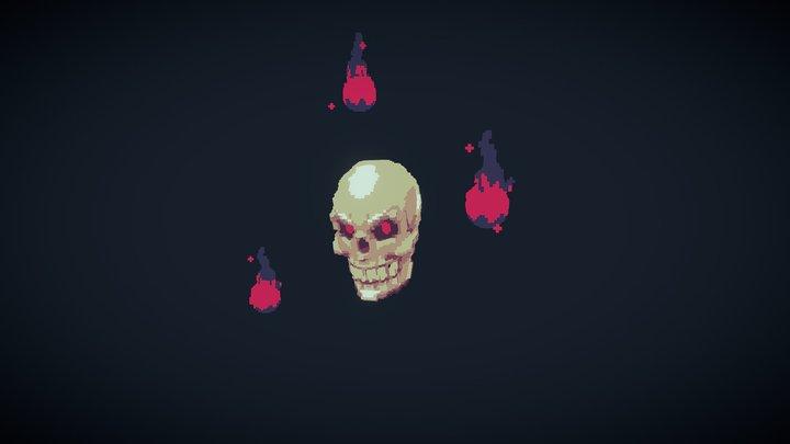 Magic Voxel Skull (Flat Shaded) 3D Model