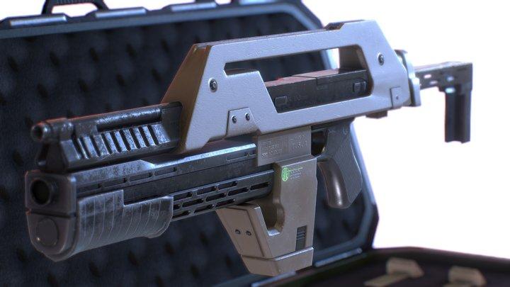 Aliens M41A Pulse Rifle 3D Model