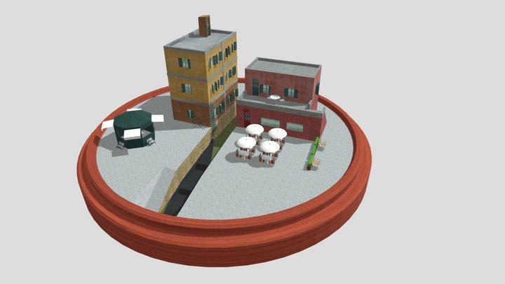 Venice Cityscene 3D Model