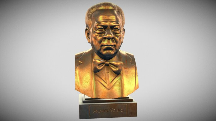 Andrew Young, Civil Rights Leader 3D Model