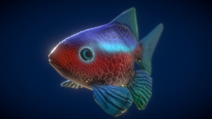 (Gold Fish) Under Water Adventure 3D Model