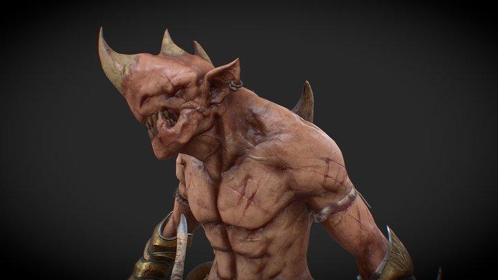 RPG Creature 3D Model