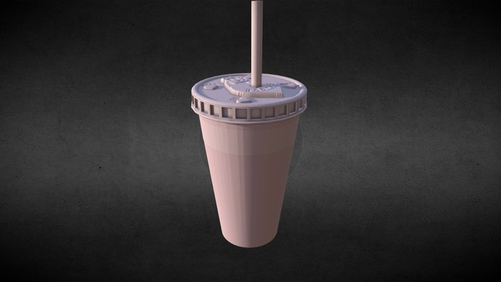Mary's Restaurant Cup 3D Model