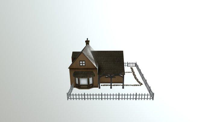 Cottage Scene 3D Model