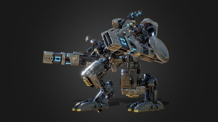 Mech Animation 3D Model
