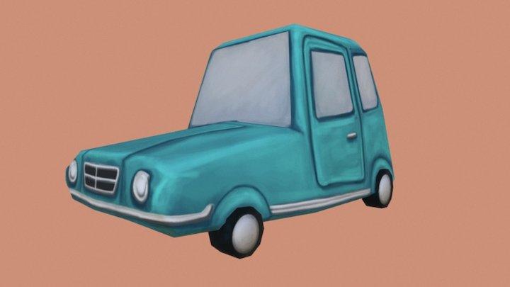 Low Poly Car 3D Model