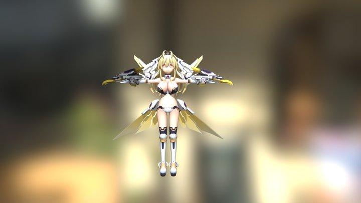 Yellow Heart (PCF-XXX) 3D Model