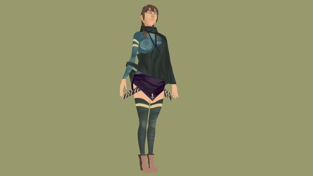 ugly girl 3D Model