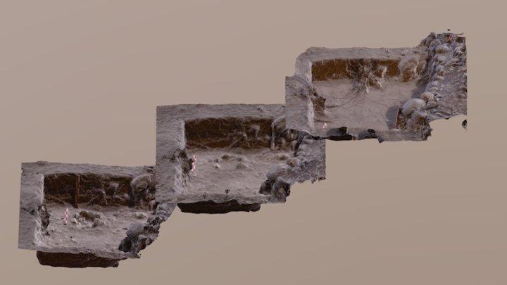 Loma Redonda de Tilica, proceso de excavación 3D Model
