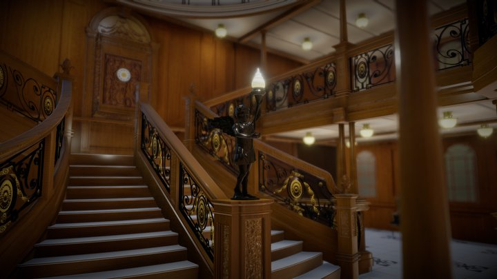 Titanic Grand Staircase 3D Model
