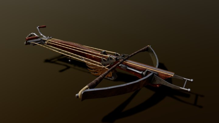 Medieval crosbow 3D Model