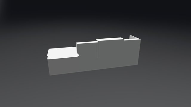 TRA40P Reception Desk 3D Model