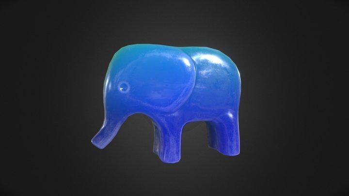 Toy Elephant Glow 3D Model