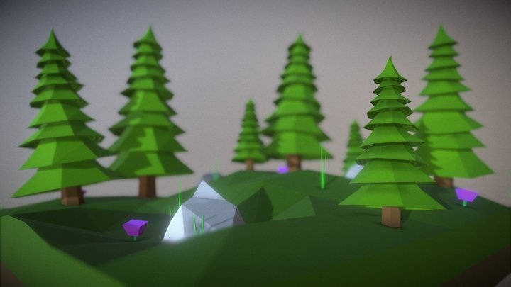 Spruce Tree | Low Poly | Free 3D Model