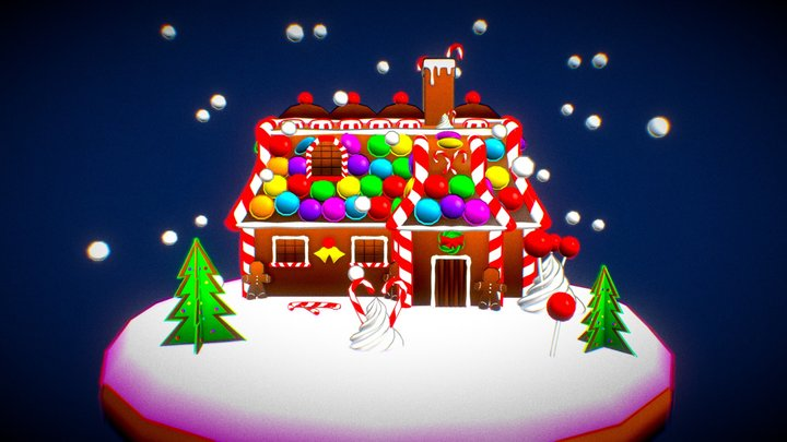 Gingerbread Christmas House - Holidays Challenge 3D Model