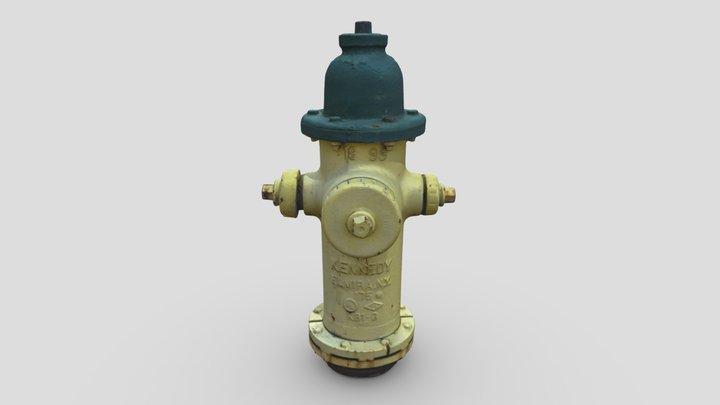 Fire Hydrant 4 -- Photogrammetry Asset 3D Model