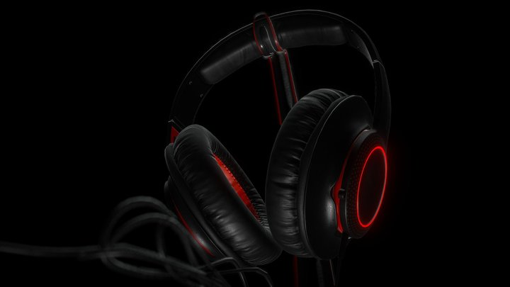 Headphones Steelseries 3D Model