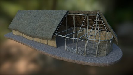 Bronze age settlement (Corent, 950-850 b.C.) 3D Model