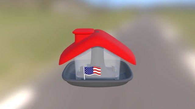 Bird feeder USA 3D Model