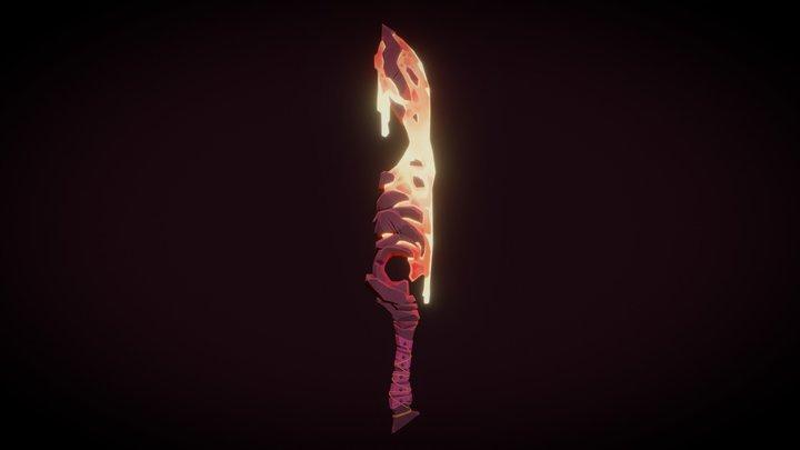 The Lava Sword 3D Model