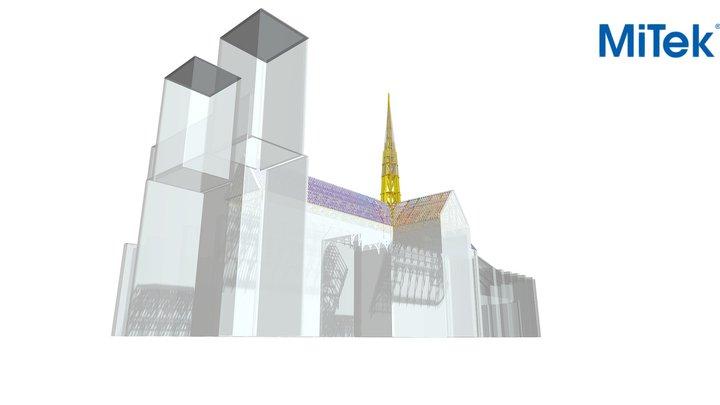 Notre Dame Paris cathedral 3D Model