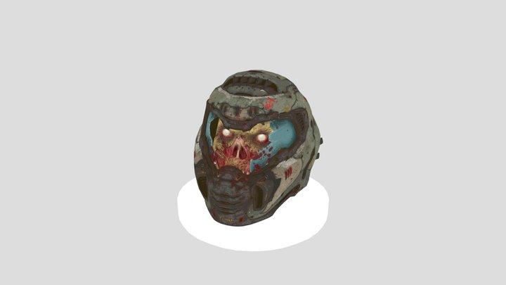 Doom Slayer Death Head 3D Model