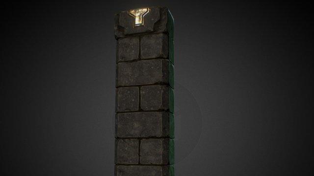 Dungeon Pillar 3D Model