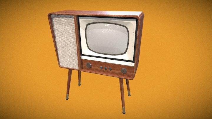 Vintage TV 3D Model