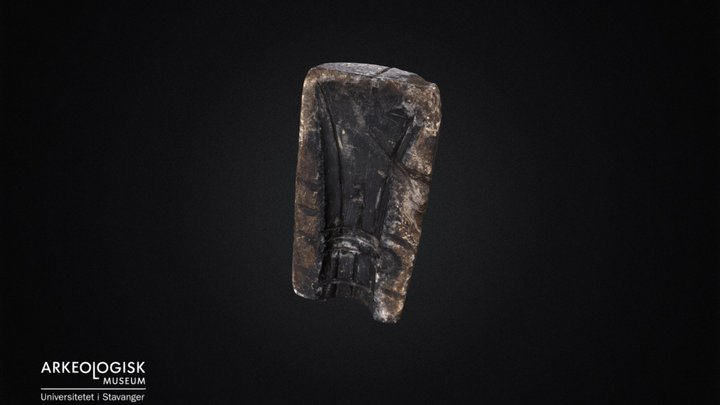 Bronzeage soapstone axe mold. S7090 3D Model
