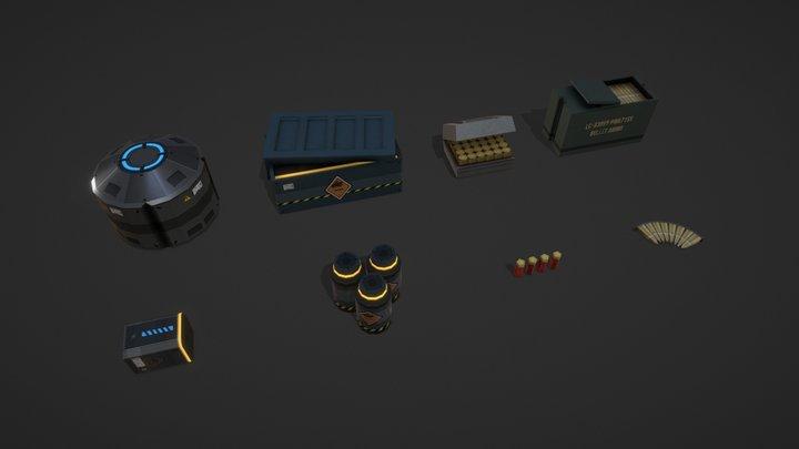 Rampage Assets 3D Model