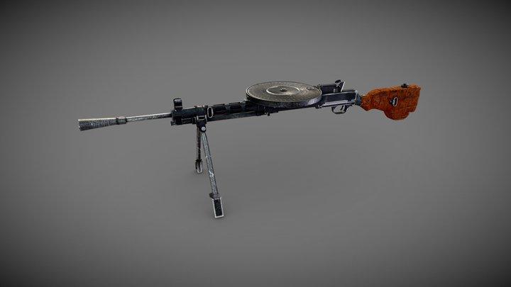 DP28 Light Machine Gun Low-poly PBR 3D Model