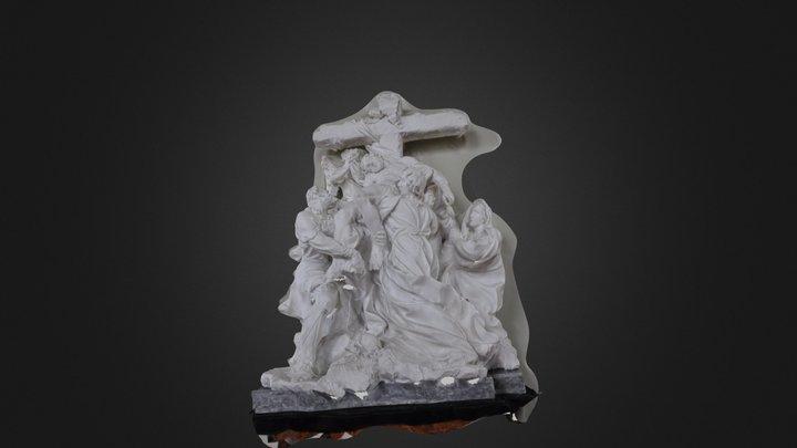 Gruppo scultoreo crocifissione 3D Model