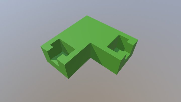 connector - square angle (2) 3D Model
