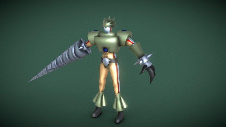 Elemental Hero Grand Neos (Yugioh) 3D Model