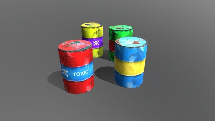 Four Barrels 3D Model