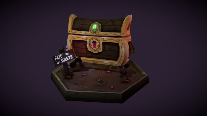 Animated Chest sweet mimic 3D Model
