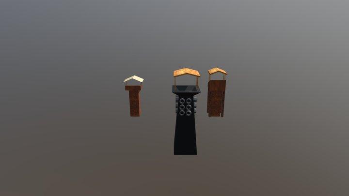 Torre Lança Chamas 3D Model