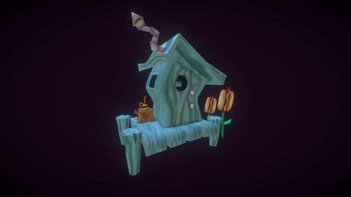 Outhouse from Pajama Sam 3D Model