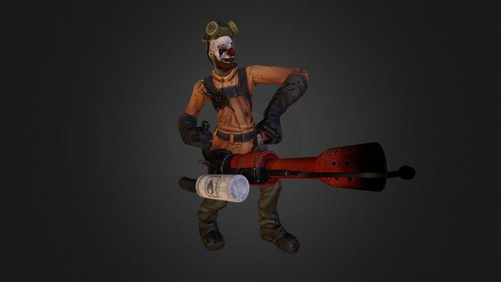 Griller Clown 3D Model